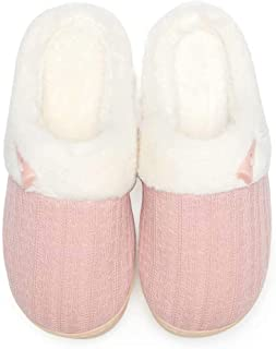 NineCiFun Pantofole da Donna accoglienti in Memory Foam pelose morbide Pantofole Calde Camera da Letto Pantofole Antiscivo...