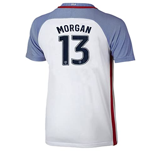 5254162b1 Iqrrn Morgan  13 USA National Women s Alex Home Jersey White