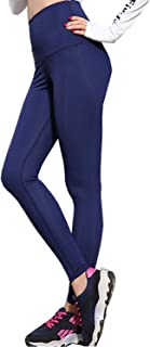 Sauna Pants Women, Neoprene Weight Loss Thermo Shapers, Fat Burner Workout Capris,High Waist Tummy Control Yoga Pants(M) Blue