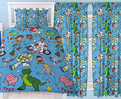 Toy Story 4 Rescue - Juego de ropa de cama para cama individual (167,6 x 137,1 cm)