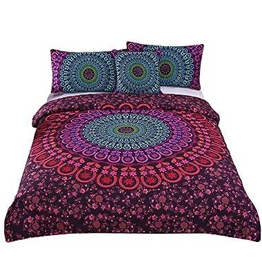 Sleepwish 4 Pcs Mandala Bedding Boho Chic Bedspreads Posture Million Romantic Soft Bedclothes bohemian duvet cover set King