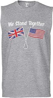 We Stand Together - USA & UK Union Jack Flags Men's Sleeveless Shirt