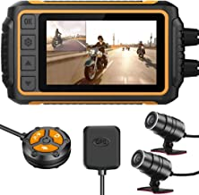 ZOMFOM Dash Cam Waterproof Recording Camera for Motorcycle, 3'' LCD Front and..