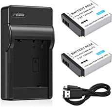 Battery (2-Pack) and Charger for Panasonic Lumix DMC-GF7K, DMC-GF8K, DC-GF9K, DC-GF10K Digital Camera