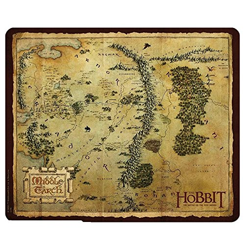 The Hobbit Middle Earth Map, muismat, 23 x 19 cm