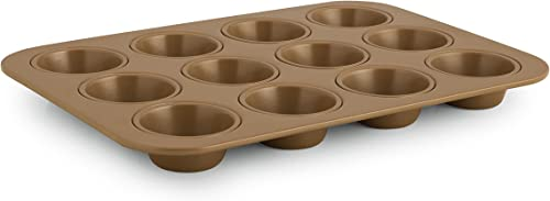 new arrival Simply outlet online sale Calphalon Nonstick Bakeware, Cupcake/Muffin new arrival Pan, 12-cup online