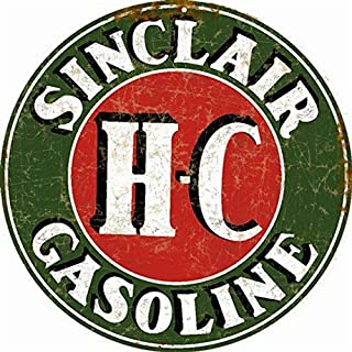 Sylty Sinclair H-C Gasoline Man Cave Garage Car Motor Oil Sign 12X12 Inch