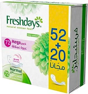 Freshdays Sanitary Napkins, 72 Pieces