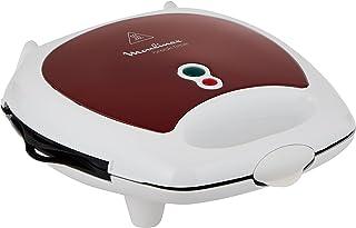 Moulinex Sandwich Maker, 700 watts, 3-in-1 panini, sandwich and waffle maker, Red, SW612543