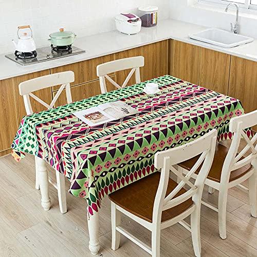 XXDD Mantel de Lino Impermeable con patrón de costumbres étnicas africanas, Mantel Decorativo para el hogar, Cocina, Hotel, Escritorio, A5 150x210cm