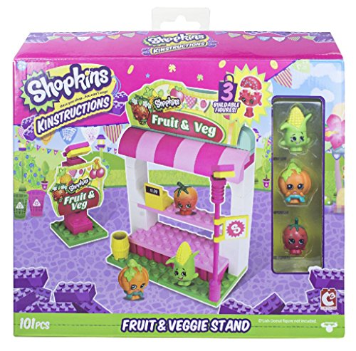 Shopkins Kinstructions Shopping Pack Fruit and Veg Stand Building Set...