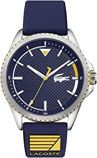 Lacoste 2011027 Silicone Round analog Watch for Men - Blue