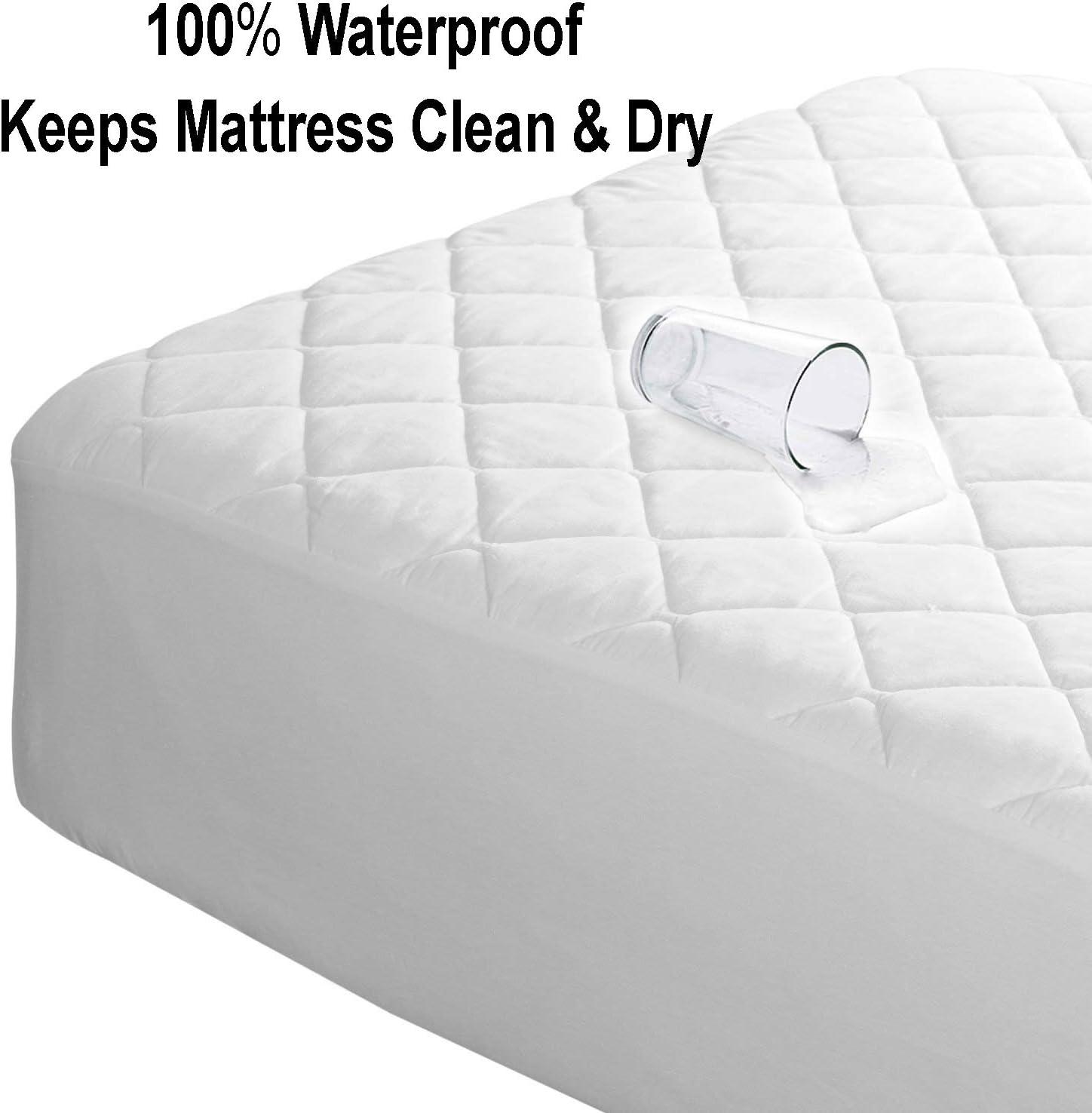 Matteress Protector Waterproof Wipe Down Grade Natural Comfort Pillow Bunk Cot