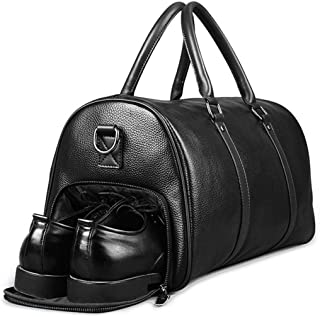 1b9e02cd200 Extra Large Bag Genuine Leather Business Men s Travel Bag Popular Design  Duffle H bag BLACK(