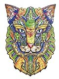 BaSi FoQo Wooden Jigsaw Puzzles–Pharaoh Cat Size 11.8x15.7 in(30x40cm) Puzzle 261 Unique Shape Animal Jigsaw Pieces Wooden Puzzles for Adults - Best for Family Game Play Collection