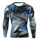 Camiseta de manga larga de camuflaje para hombre, para correr, deportes, ocio, equitación, ciclismo, transpirable, secado rápido C M