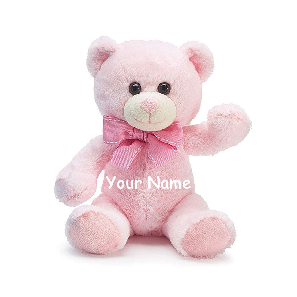 Personalized Baby Stuffed Animals, Amazon Com Burton Burton Personalized Baby Pink Teddy Bear Plush Stuffed Animal Toy For Baby Girl With Custom Name 7 Inches Toys Games