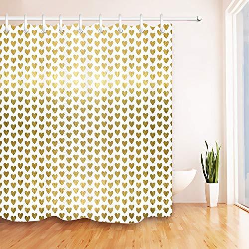 Ditiaodeken badgordijnen polyester waterdichte stof hart patroon douchegordijn met 12 haken voor huisdecoratie mildewproof badkamer schermen