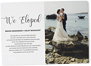 elopement announcement and reception invitation