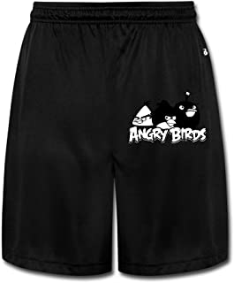 Kamifa Pissed Off Bird Athletic Running Men's Performance Shorts Sweatpants Black