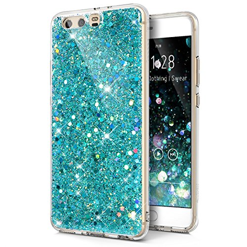 Funda Huawei P10 Plus,Carcasa Huawei P10 Plus,Diamantes pedrería brillo cristal destellos Transparente TPU Silicona Fundas Skin Cover Carcasa Silicona Protective Case Funda para Huawei P10 Plu