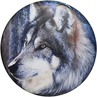 sofu Spare Tire Cover, Wheel Cover with Wolf PVC Leather Waterproof Dust-Proof Universal Fit for Jeep,Trailer, RV, SUV, Camper and Vehicle (14