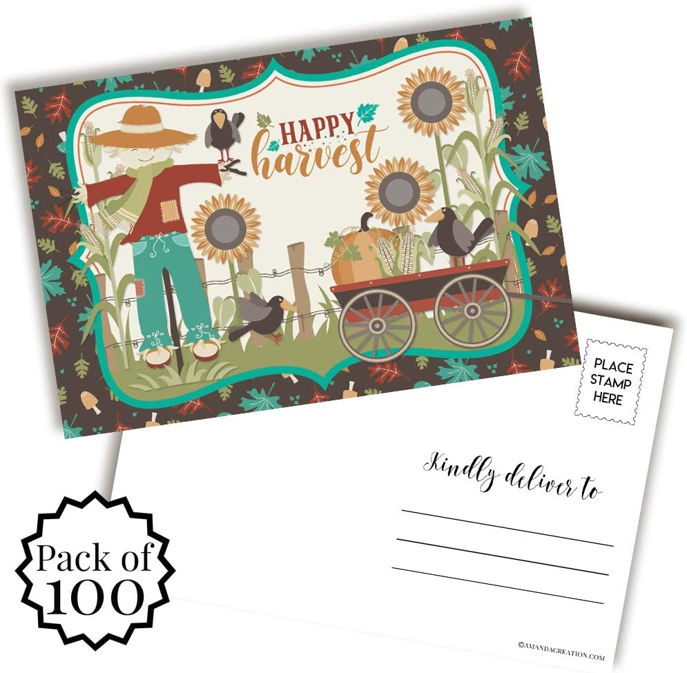 Happy Our shop OFFers the best service Virginia Beach Mall Harvest Fall Autumn Themed Blank Postcards Fr Send To