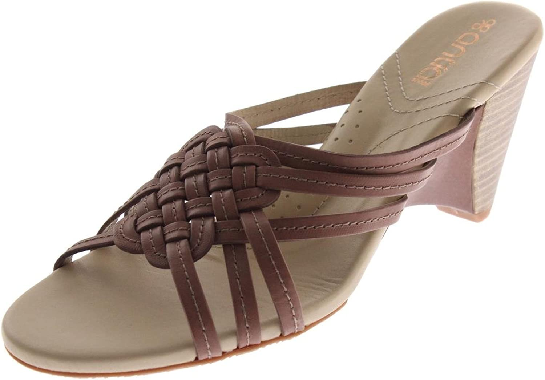 Antia kvinnor Kiana läder läder läder Slide Wedges bspringaaa 9.5 bred (C,D,W)  klassisk stil