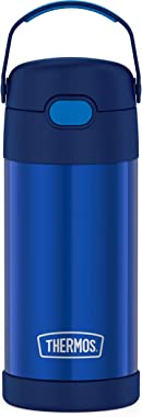 THERMOS FUNTAINER F4101 Stainless Steel Kids Bottle, 12 Ounce, Blue