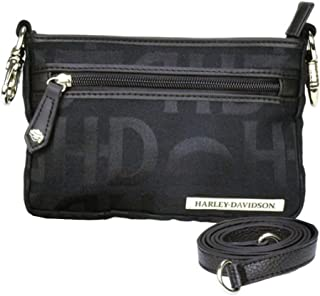 Women's Hip Bag, HD Jacquard, Black Cotton Purse HD3492J-Black