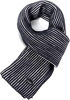 Scarves Scarf Scarves Men's Scarves Striped Autumn and Winter Warm Scarf Long Thick Men's Scarves (Color : Blue, Size : 192 * 32cm)
