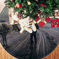 ツリースカート クリスマスツリースカート クリスマス ゆき 冬 しか ホリデーデコレーション メリイクリスマス飾り 下敷物 可愛い 雰囲気 クリスマスパーティー 直径77cm