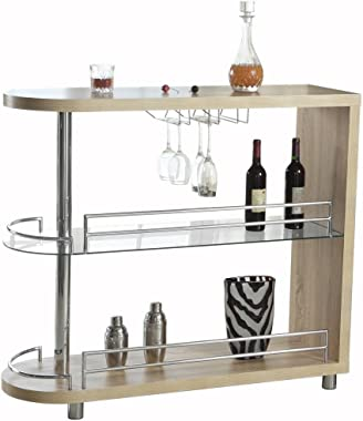 Homegear Deluxe Kitchen Bar Table - Oak