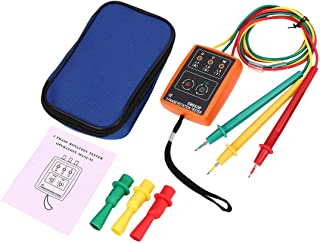 SM852B 3 Phase Rotation Tester Digital Phase Indicator Detector LED Buzzer Phase Sequence Meter Voltage Tester 60V~600V AC