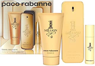 1 Million by Paco Rabanne Eau de Toilette Spray 100ml, Shower Gel 75ml & Eau de Toilette Spray 10ml