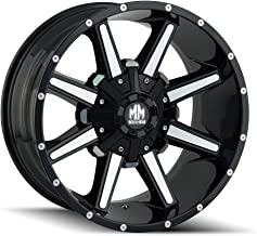 Mayhem ARSENAL Gloss Black/Machined Face Wheel with Painted Finish (20 x 9. inches /5 x 127 mm, 18 mm Offset)