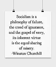 Amerihut Winston Churchill Quote Socialism Poster 16