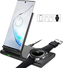 Innens 10W Fast Wireless Charger for Samsung, 2 in 1 Dual Coil Detachable Wireless Charging Station Dock for Galaxy S10 S9 S8 Plus, Note 10 Plus Note 9 Note 8, Samsung Watch, Galaxy Buds (Black)