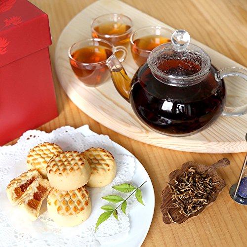 アフタヌーンティーセット 金芽紅茶 パイナップルケーキ ティーポットセット