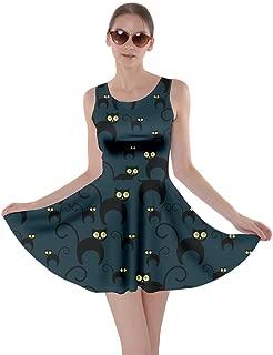 black cat skater dress