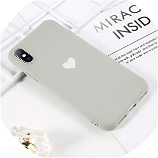 church123 Soft TPU Luminous Phone Cases for iPhone 7 8 6 6s Plus Glow Ultrathin Back Cover Couples Love Heart Case X XR XS Max,T3,for iPhone 8