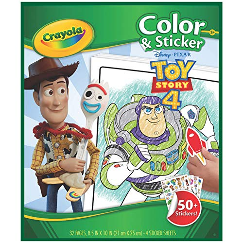 Crayola Toy Story 4 Coloring Pages & Stickers, Kids at Home Activities, Gift for Kids, Age 3, 4, 5, 6, 7