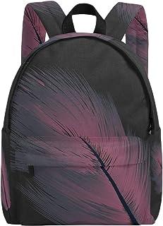 MALPLENA - Mochila para Hombre, diseño de Plumas, Color Morado