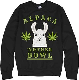 Alpaca'nother Bowl Llama Green: Unisex Ultimate Crewneck Sweatshirt