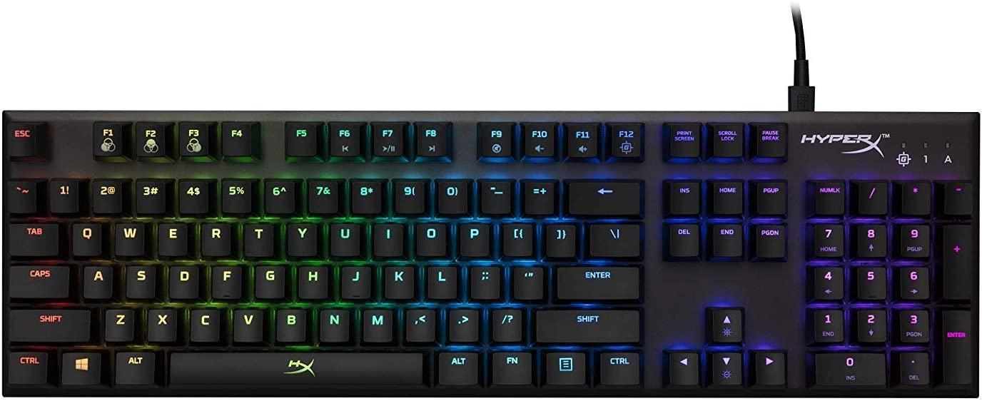 HyperX Alloy FPS RGB - Mechanical Gaming Keyboard, Controlled Light & Macro Customization, Silver Speed Switches, RGB LED Backlit