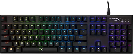 Teclado Mecanico Alloy FPS RGB Preto com Luz RGB, HyperX, HX-KB1SS2-US