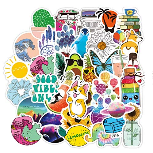 100 pcs VSCO Stickers for Trolley Case, Suitcase, Laptop, Refrigerator, Phone, Water Bottles, Cute Trendy colorful Aesthetic Stickers for Teens, Girls (single size:approx.1.6 to 2.4 inch)