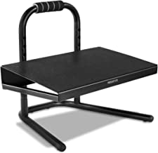 Mount-It! Height Adjustable Foot Rest for Standing and Sitting, Freestanding Under The Desk Footrest with Handle and Six H...