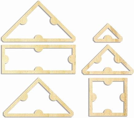 Muster 1 Zuschnittschablone Farbklecks Collection Patchwork Quilt Schablone