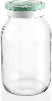 SignoraWare Glass Jar with Handle, 2 Litre, Green